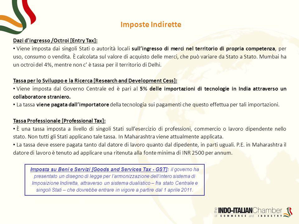 Imposte Indirette Dazi d'ingresso /Octroi [Entry Tax]: